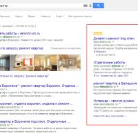 Контекстная реклама Google AdWords (сбоку)